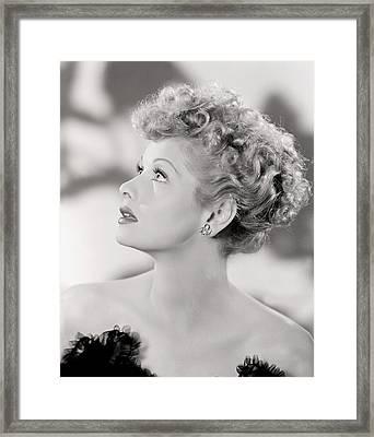 Lucille Ball Portrait, 1940s Framed Print by Everett