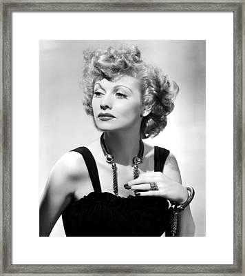 Lucille Ball Publicity Shot, 1940s Framed Print by Everett