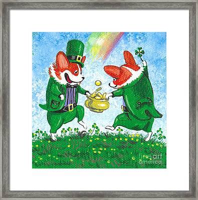 Luck Of The Irish Framed Print by Margaryta Yermolayeva