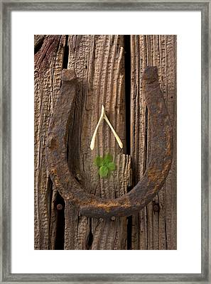 Lucky Horseshoe Framed Print by Garry Gay