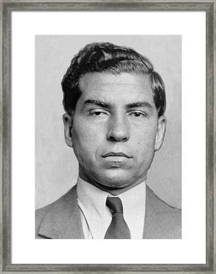 Lucky Luciano 1896-1962 Was Imprisoned Framed Print by Everett