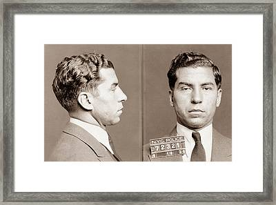 Lucky Luciano Mugshot Framed Print by War Is Hell Store