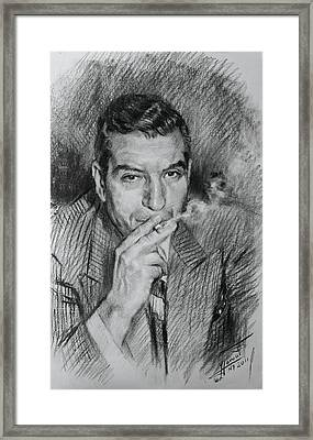 Lucky Luciano Framed Print by Ylli Haruni