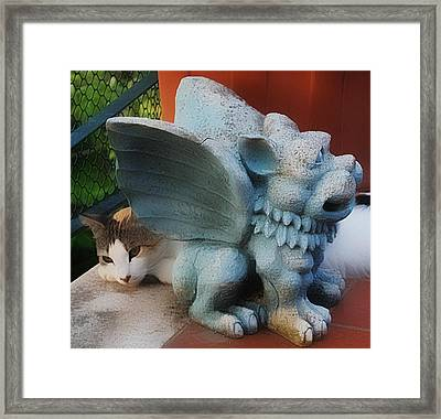 Lucy And Friend Framed Print by Dorothy Berry-Lound