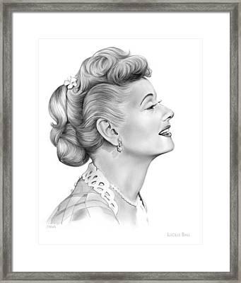 Lucy Framed Print by Greg Joens