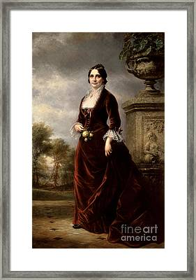 Lucy Hayes, First Lady Framed Print by Science Source