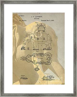 Lucy The Elephant Building Patent Framed Print by Edward Fielding