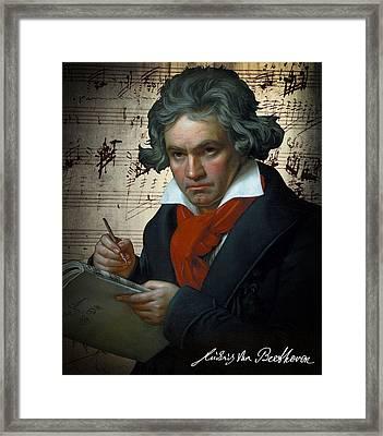 Ludwig Van Beethoven 1820 Framed Print by Daniel Hagerman