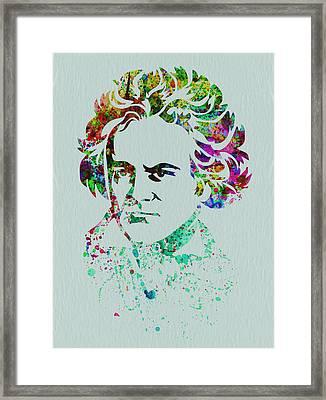 Ludwig Van Beethoven Framed Print by Naxart Studio