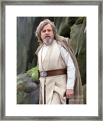 Luke Skywalker Framed Print by Paul Tagliamonte