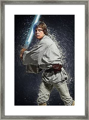 Luke Skywalker Framed Print by Taylan Apukovska
