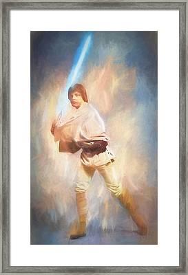 Luke Skywalker Watercolor Framed Print by Dan Sproul