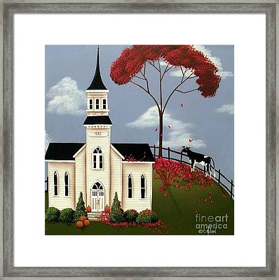 Lulabelle Goes To Church Framed Print by Catherine Holman