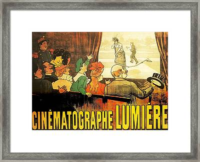 Lumiere Cinematographe Framed Print by Georgia Fowler