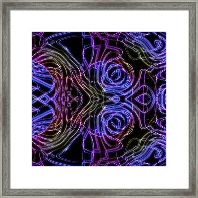 Luminescent Plankton From The Deep Framed Print by Ljubomir Arsic