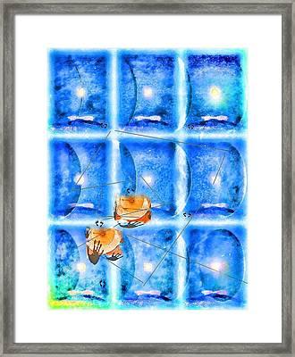 Lunar Balance Framed Print by Kathy Bassett