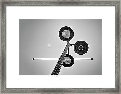 Lunar Lamp In Black And White Framed Print by Tom Mc Nemar