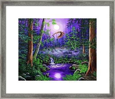 Luna's Flight Framed Print by Laura Iverson