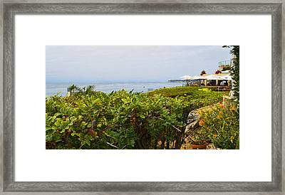 Lunch At Geoffrey's Of Malibu Framed Print by Glenn McCarthy Art and Photography