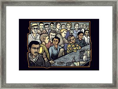 Lunch Counter Framed Print by Ricardo Levins Morales