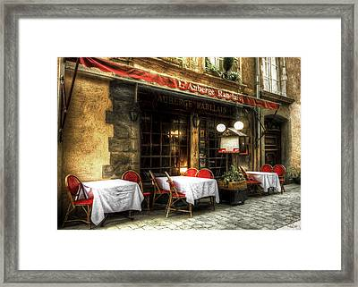 Lunch In Lyon Framed Print by Pennie  McCracken