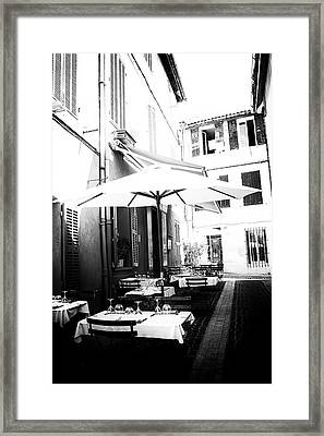 Lunch In The Back Streets Framed Print by Georgia Fowler