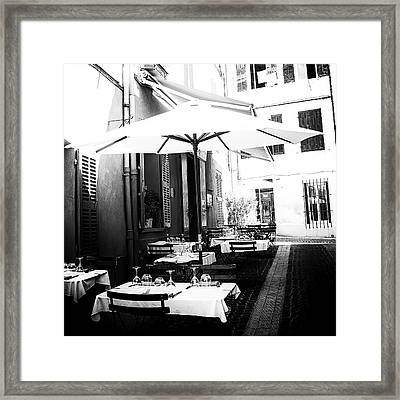 Lunch In The Back Streets - Square Framed Print by Georgia Fowler