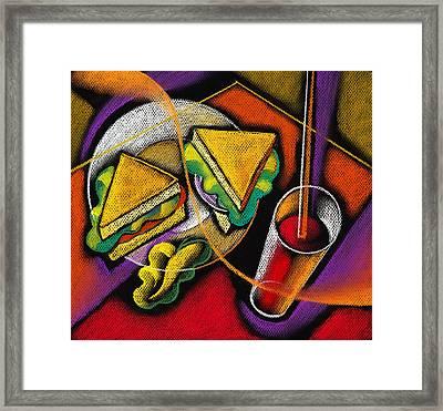 Lunch Framed Print by Leon Zernitsky