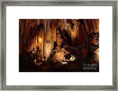 Luray Dark Caverns Framed Print by Paul Ward