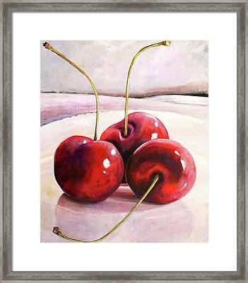 Luscious Cherries Framed Print by Toni Grote