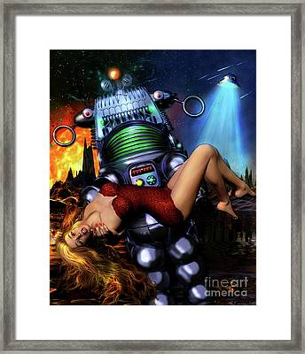 Lust In Space Framed Print by Shanina Conway