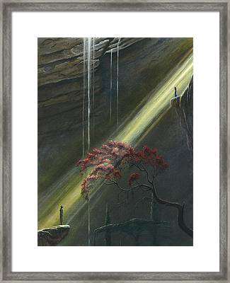 Luthien Finds Beren Framed Print by Kip Rasmussen