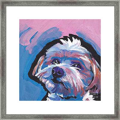 Luv You Mor Framed Print by Lea S