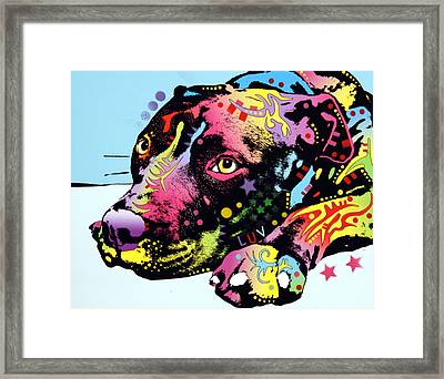 Lying Pit Luv Framed Print by Dean Russo