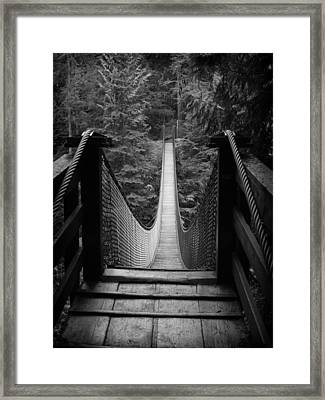 Lynn Canyon Bridge No Sig Framed Print by Tom Buchanan