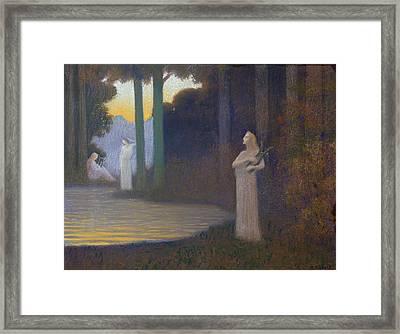 Lyricism In The Forest Framed Print by Alphonse Osbert