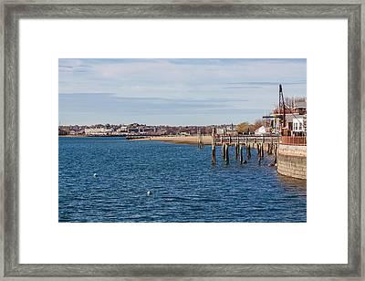 M Street Beach South Boston Massachusetts Framed Print by Brian MacLean