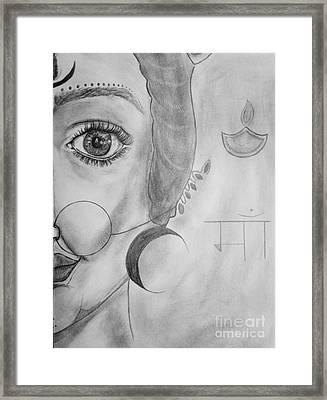 Ma Chandraghanta Framed Print by Navroz  Raje