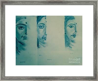 Ma Durga Framed Print by Navroz  Raje