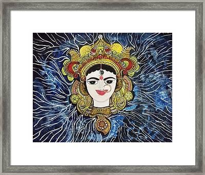 Maa Durga Framed Print by Archana Jha
