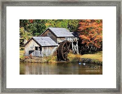 Mabry Mill Framed Print by Lena Auxier