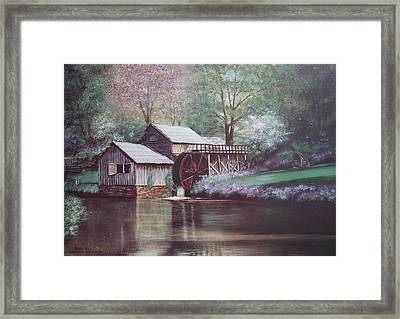 Mabry Mills Framed Print by Charles Roy Smith