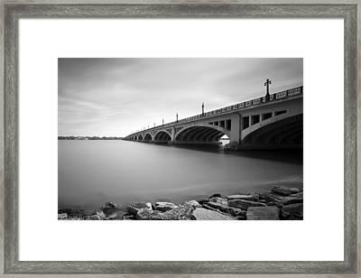 Macarthur Bridge To Belle Isle Detroit Michigan Framed Print by Gordon Dean II