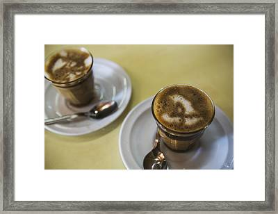 Machiato Coffee In The Tomoca Coffee Framed Print by Toby Adamson