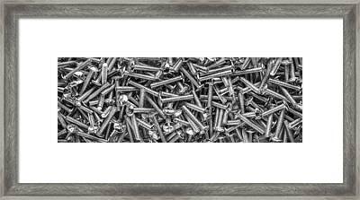 Machine Screws Still Life Framed Print by Steve Gadomski