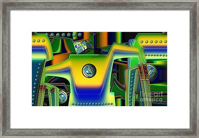 Machinery Framed Print by Ron Bissett