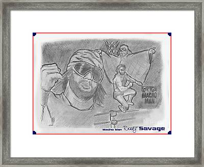 Macho Man Randy Savage Framed Print by Chris  DelVecchio