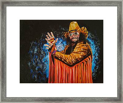 Macho Man Randy Savage Framed Print by Joel Tesch