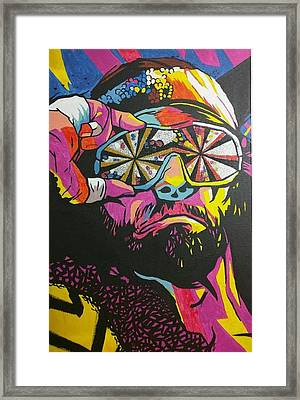 Macho Man Randy Savage Framed Print by Ralph Rivera