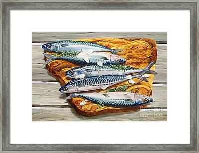 Mackerel On Board Framed Print by John Francis
